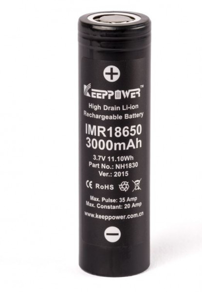 Keeppower IMR 18650 3000mAh 30A