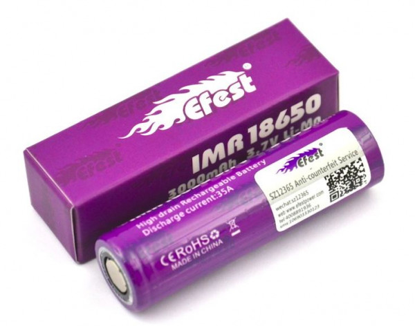 Efest Purple IMR 18650 3000 mAh 35A